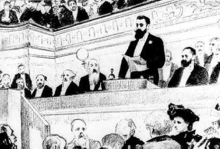 Herzl Tivadar beszédet mond a Kongresszuson